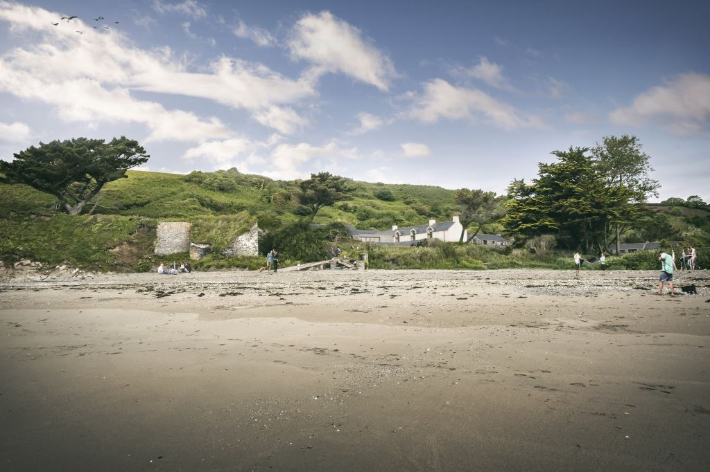 Pendower From the beach - Planning submitted for Pendower Beach Hotel Regeneration